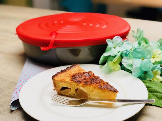 Schwedischer Birnenkuchen aus der runden Kuchenform von Pampered Chef®