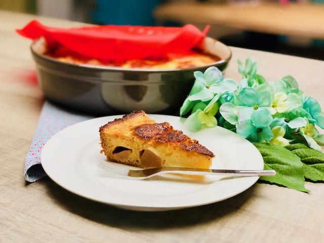 Leckerer Birnenkuchen aus der runden Stoneware von Pampered Chef® der runden Ofenhexe®