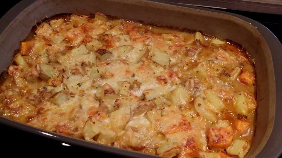 Leckere Sahnekartoffeln aus der großen rechteckigen Ofenhexe von Pampered Chef