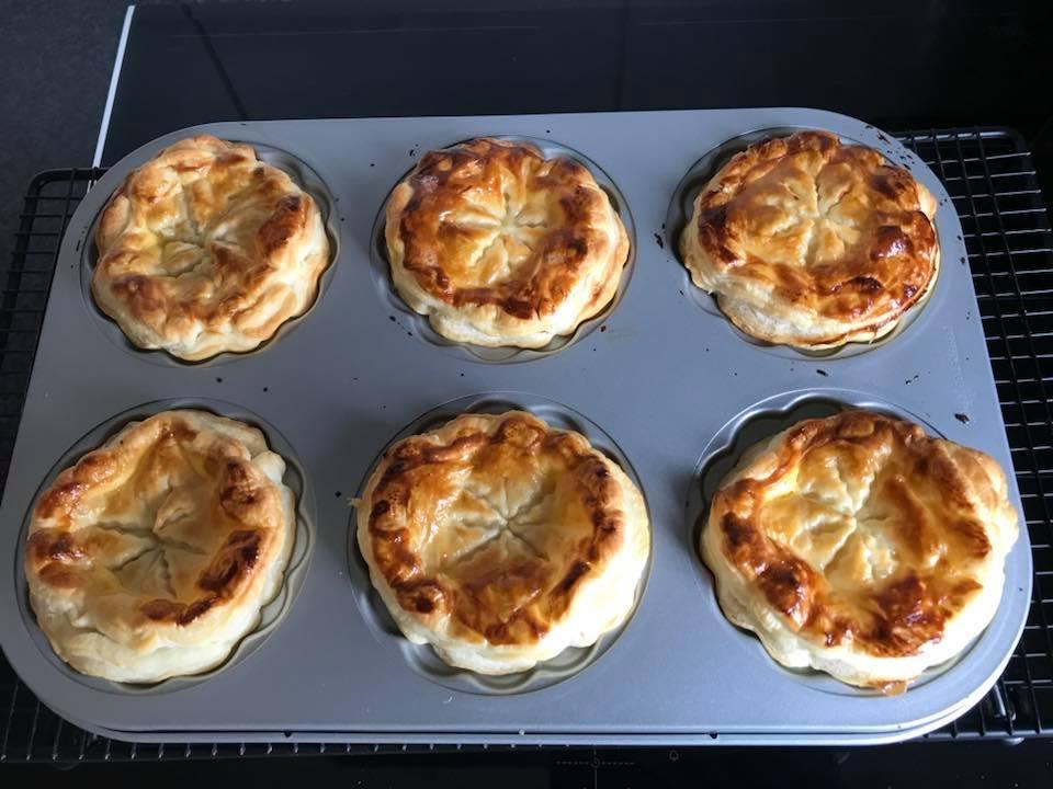 Leckere Spargel Mini-Pies aus der tollen Mini-Pie-Form von Pampered Chef®