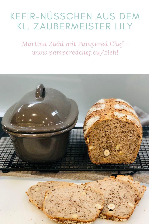 Kefir Nüsschen Brot gebacken im kleinen Zaubermeister Lily von Pampered Chef®