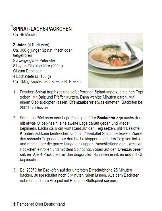 Spinat Lachs Päckchen gebacken in Filoteigblätter