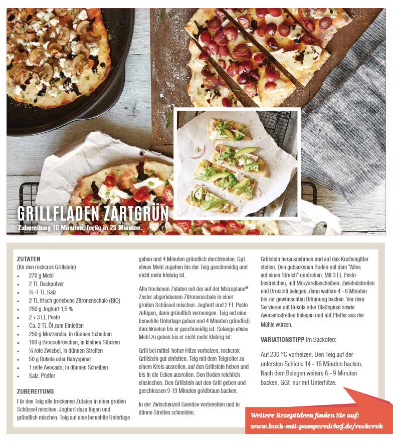 Grillfladen zubereitet auf dem rockcrok® Grillstein