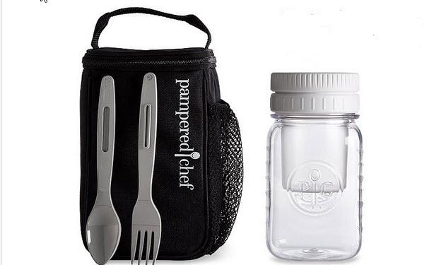 Hier siehst du das tolle Make & Take Set um deine Speisen immer gekühlt und auslaufsicher mit dabei zu haben.