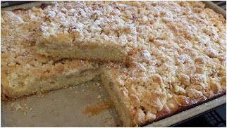 Streuselkuchen aus dem Pampered Chef Ofenzauberer James. Schnell gebacken und schmeckt wunderbar.