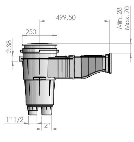 Skizze Astral Skimmer Slim 500