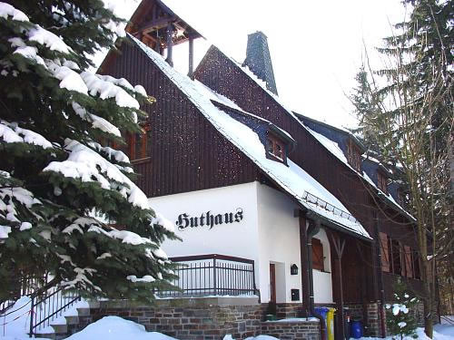 Huthaus an der Binge Winter