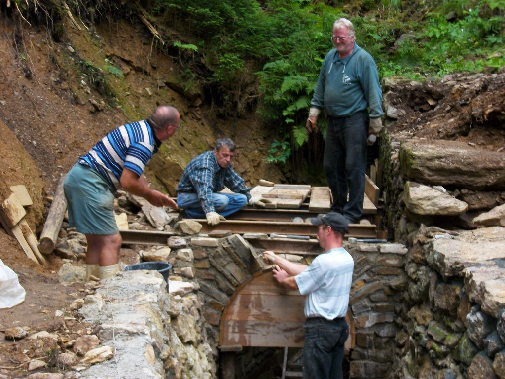 Bau des Gahrisch-Gegentrum-Stollns 2010