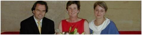 Direktoriumsmitglied der Salzburger Festspiele Frau Dr. Helga Rabl-Stadler zwischen dem KV-Geschäftsführer Dr. Ulrich Grossrubatscher und dem neuen KV-Vorstand Daniela Wagner (Foto: Erfurt).