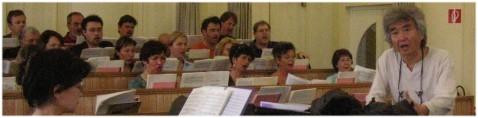 Seiji Ozawa bei einer Probe im Chorsaal der Wiener Staatsoper. Foto: Birnbauer.