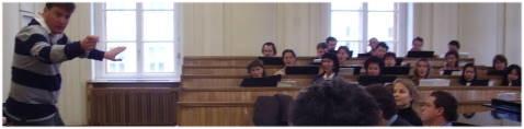 Probe mit Christian Thielemann im Chorsaal der Wiener Staatsoper. Foto: Huber.