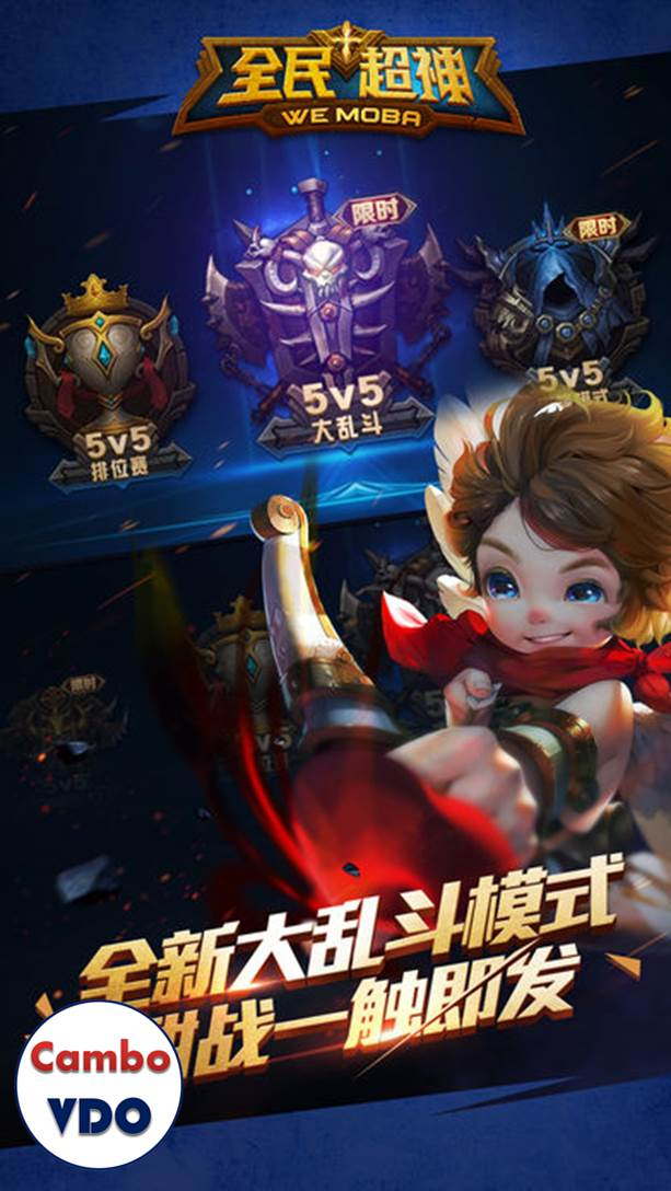 This game is no English version, only Chinese language. The game requires  either a Tencent QQ account or a WeChat account in order to play this game.