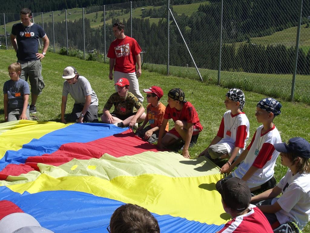 Fallschirm-Spiel