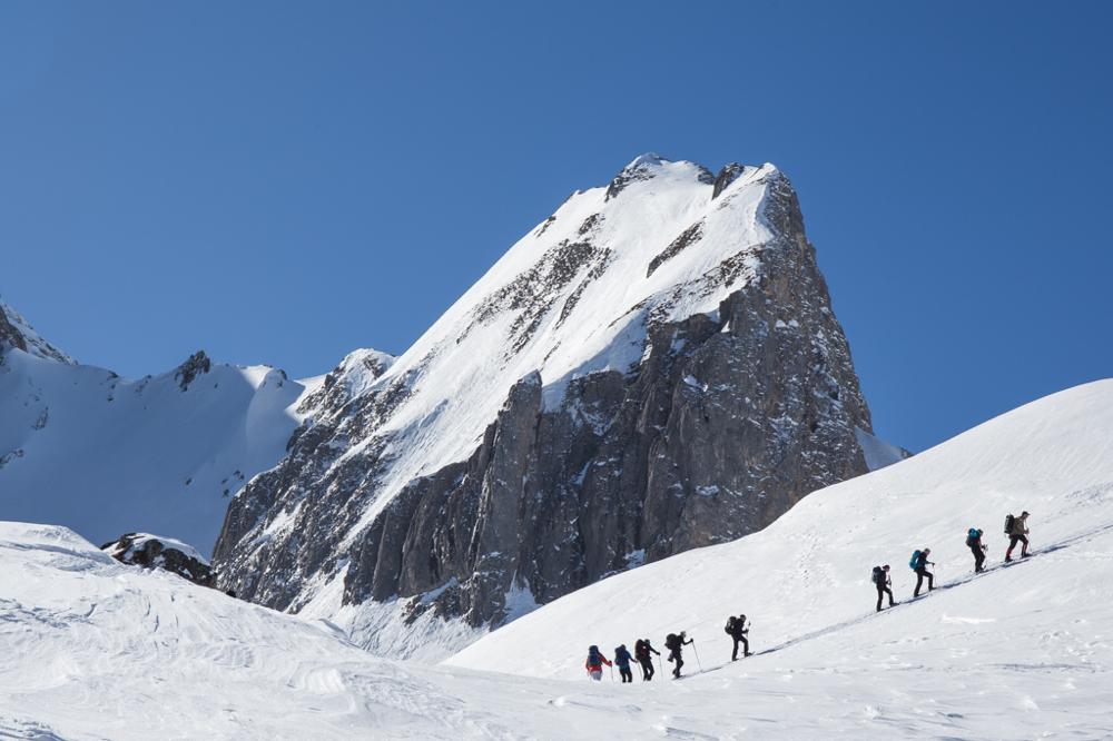 Iffigtal, Lenk, Berner Oberland, Schneeschuhlaufen, Wildhorn