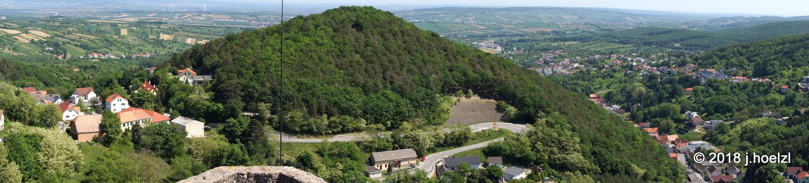 Ein toller Rundblick von der Burg Forchtenstein