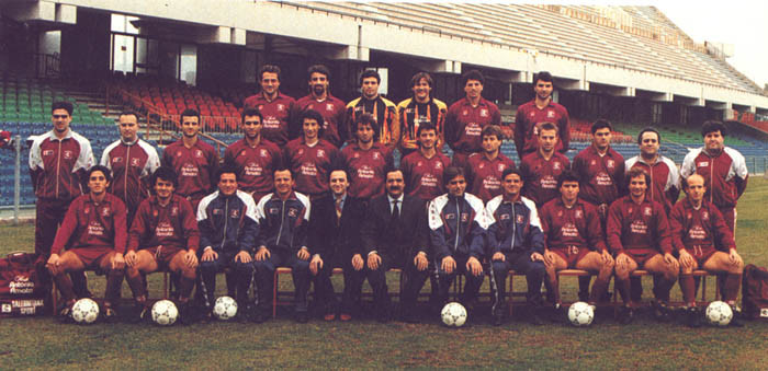 Formazione Salernitana 1992 - 1993