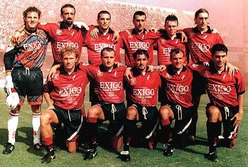 Formazione Salernitana 1997 - 1998