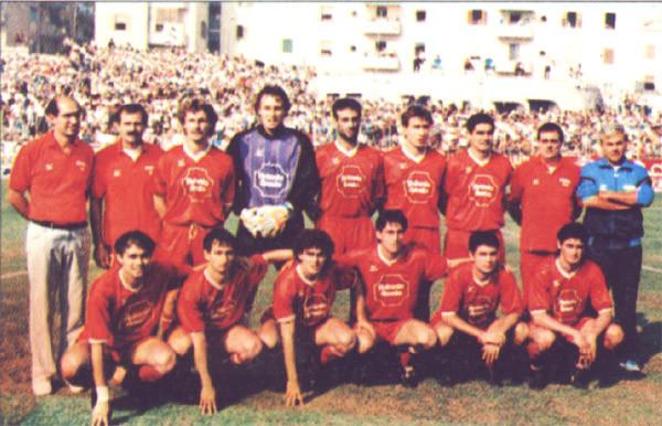 Formazione Salernitana 1989 - 1990