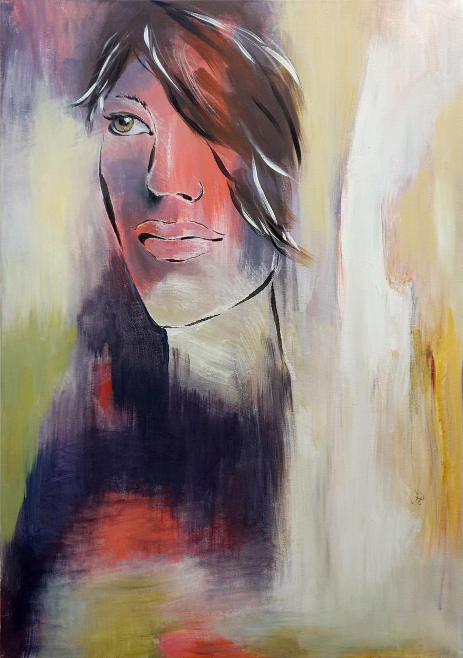 Bedeckte Stille - Porträt (70 x 100cm)