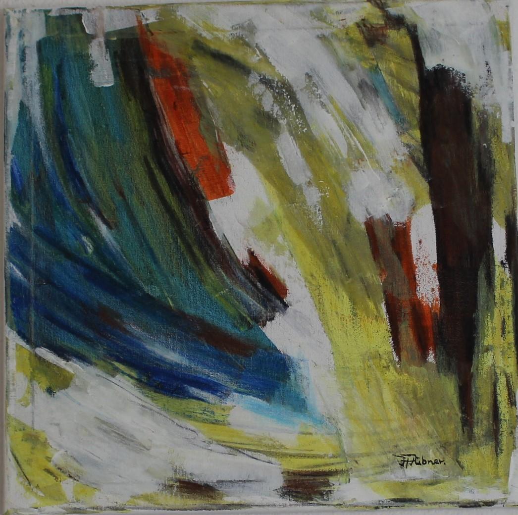 Abstrakte Farbkomposition (40 x 40cm)