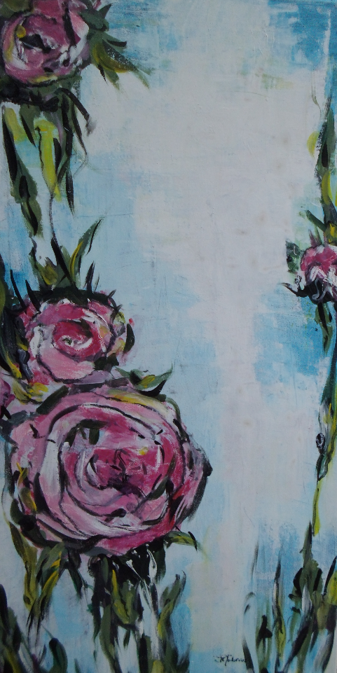Stilisierte Rosen (35 x 100cm)
