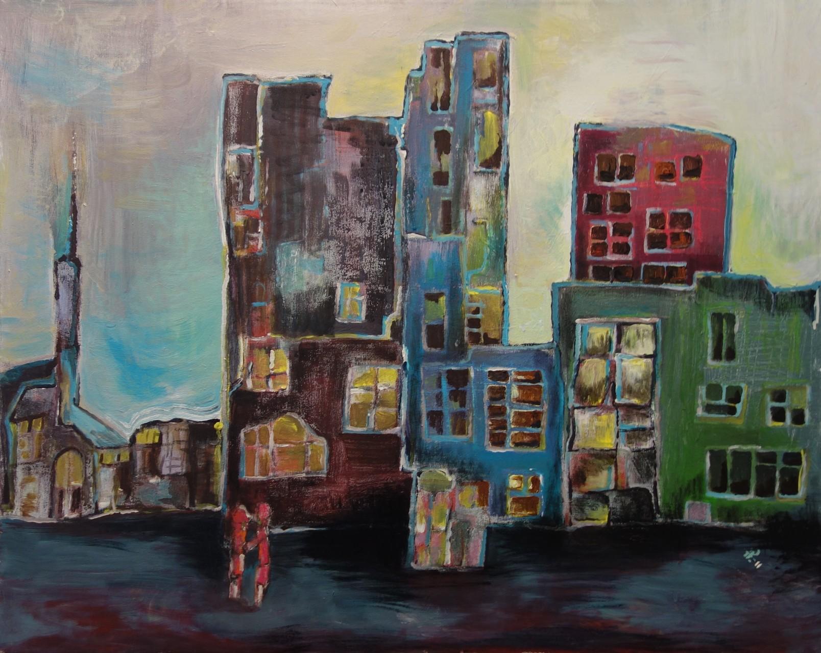 Ansicht einer Stadtkulisse (80 x 100cm)