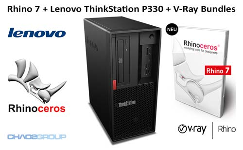 Rhino 6 + Lenovo ThinkStation P330 + V-Ray Bundles