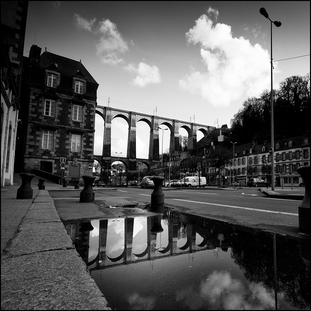 viaduct reflection, morlaix 2010