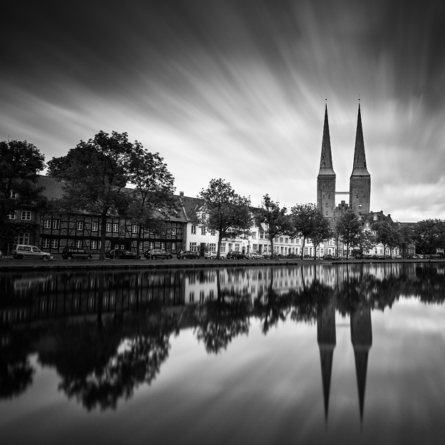 Obertrave I, Lübeck, Schleswig-Holstein. Germany 2017