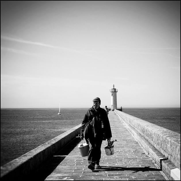 Les pêcheurs à Audierne, Bretagne 2010