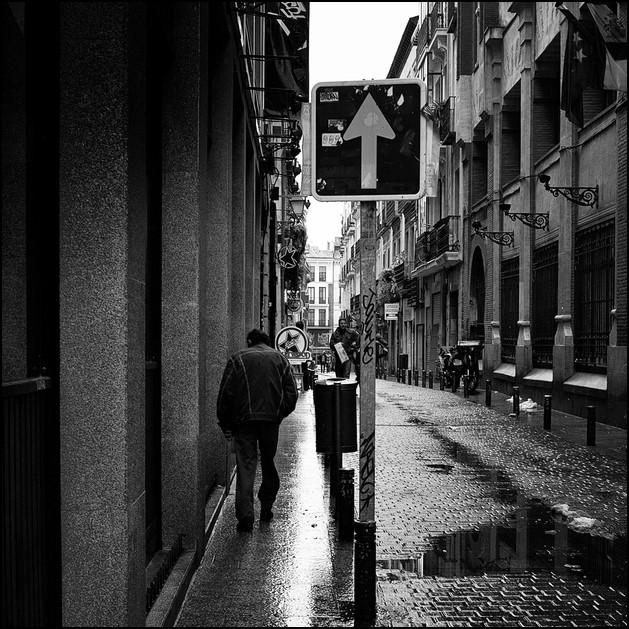 calle de dirección única,Madrid 2009