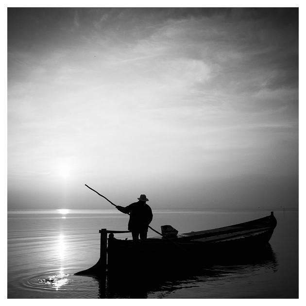 El barquero en L'albufera, Valencia 2012