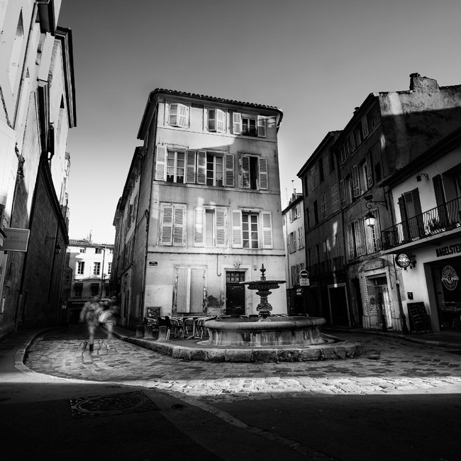 Place Séraphin Gilly, Aix-en-Provence. France 2015