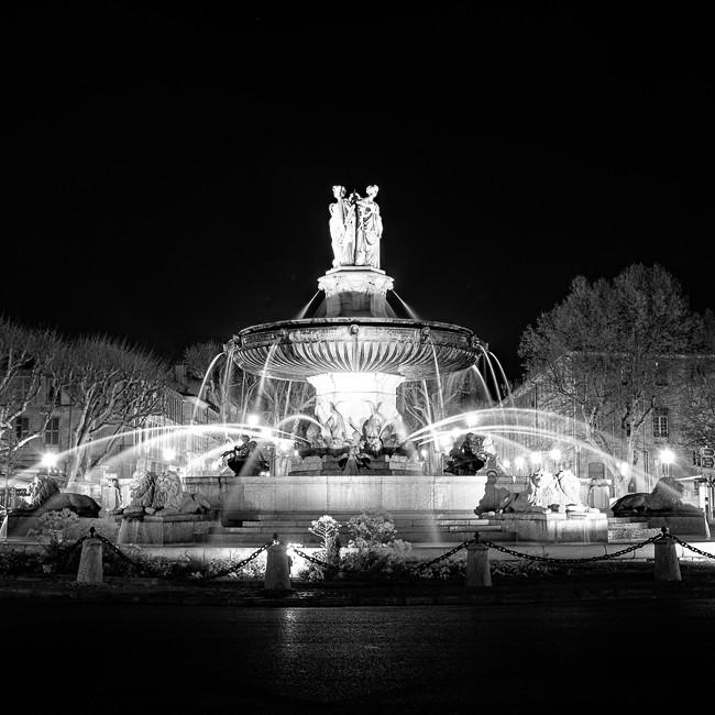 Fountain at Cour Mirabeau, Aix en Provence. Provence-Alpes-Côte d'Azur. France 2015