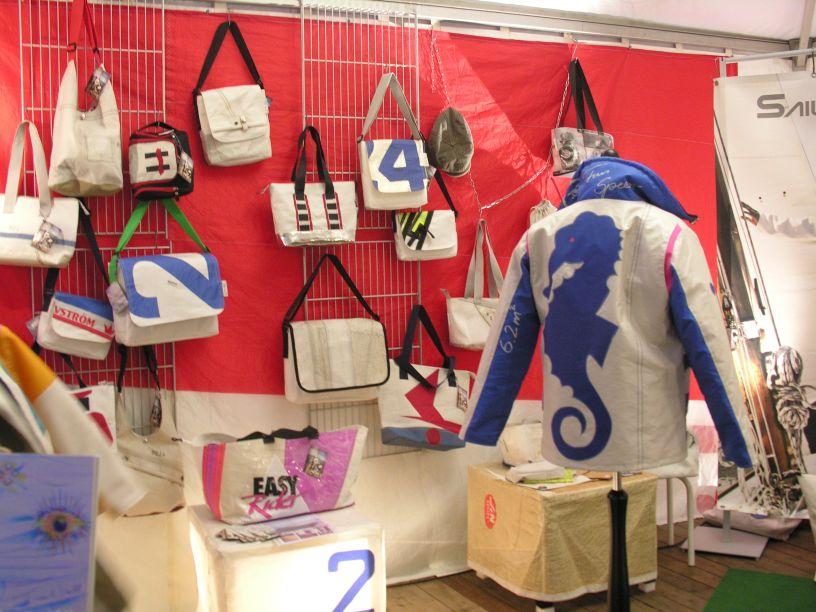 Segelmode Segeltuchtaschen Segeltuchjacken sailart fashion