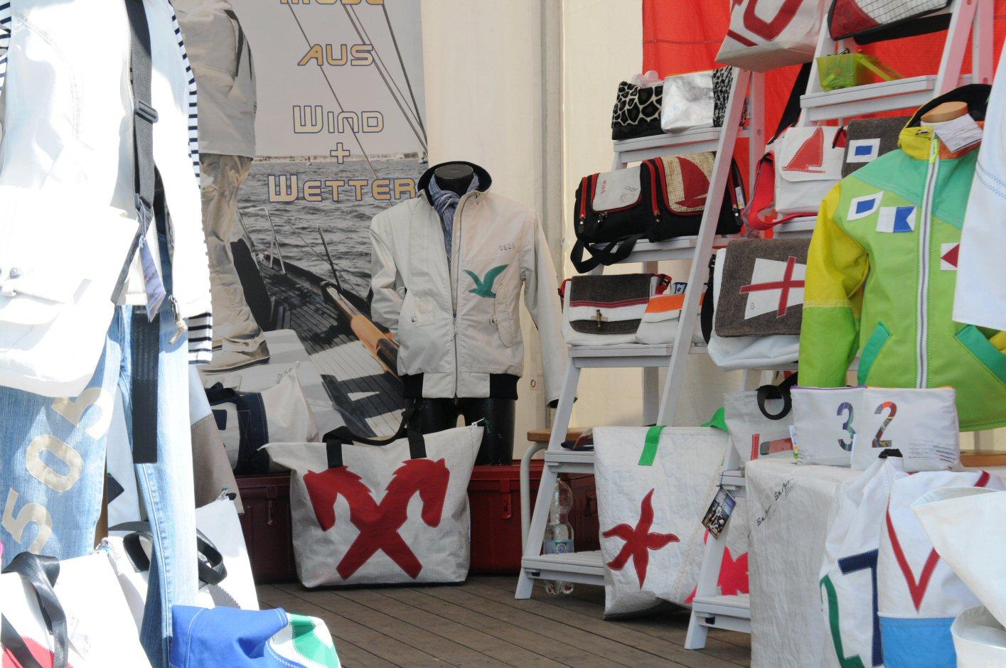 sailart fashion Segeltuchmode für Männer und Frauen aus gesegeltem Segel
