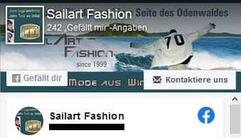 Sailart Fashion on facebook mit Segeltuchjacken und Segeltuchtaschen