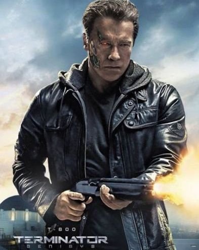 Arnold Schwarzenegger trägt Matchless Kensington Jacke im Terminator Film