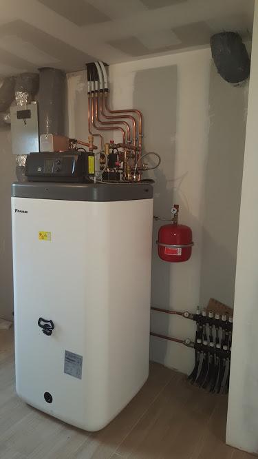 Installation pompe à chaleur air/eau - ETS FRADIN