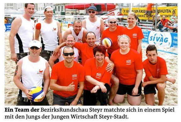 Beachvolleyball  Steyrer Stadtplatz2012