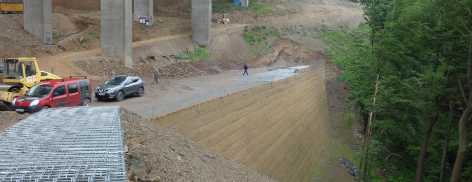 BV: A45 Hagen Talbrücke Kattenohl, während der Bauzeit