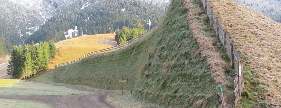 Lawinenschutzdamm in Bichlbach - Außerfern- Tirol