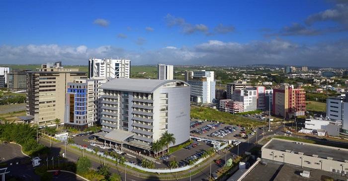 La Cybercité d'Ebène, le quartier d'affaire à l'ile Maurice pour les secteur financiers.