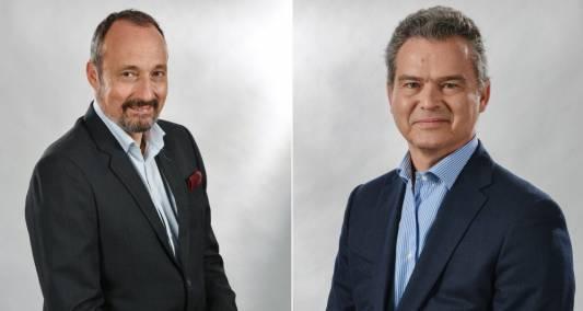 Depuis l'automne 2017, Olivier Sillion (à gauche) et Guillaume Wehrlin (à droite) sont les nouveaux patrons de Maison Berger, anciennement Lampe Berger. - DR