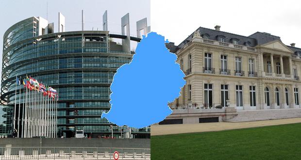 Le Parlement européen (à g.) à Bruxelles et le siège social de l'OCDE à Paris. Qui des recommandations de l'UE et de l'OCDE auront préséance aux yeux des autorités mauriciennes ?