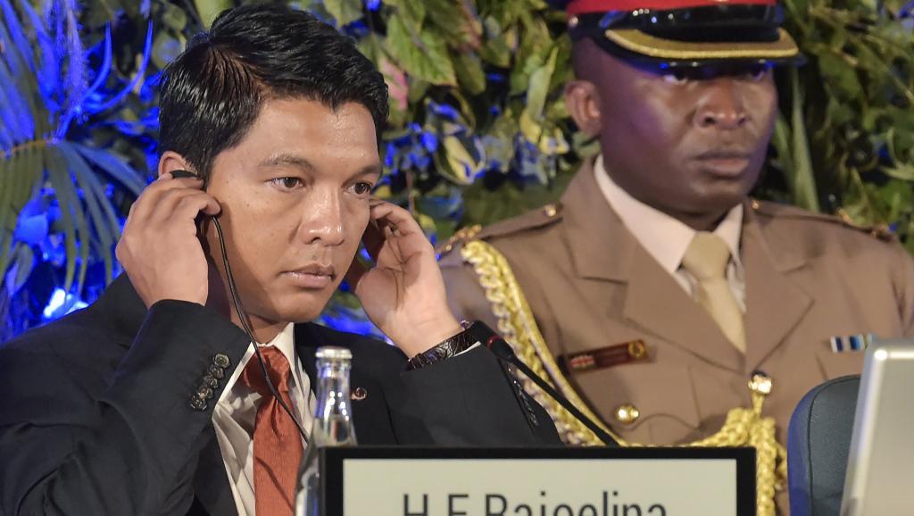 Le président malagache Andry Rajoelina à l'Assemblée de l'ONU pour l'environnement à Nairobi, le 14 mars 2019.