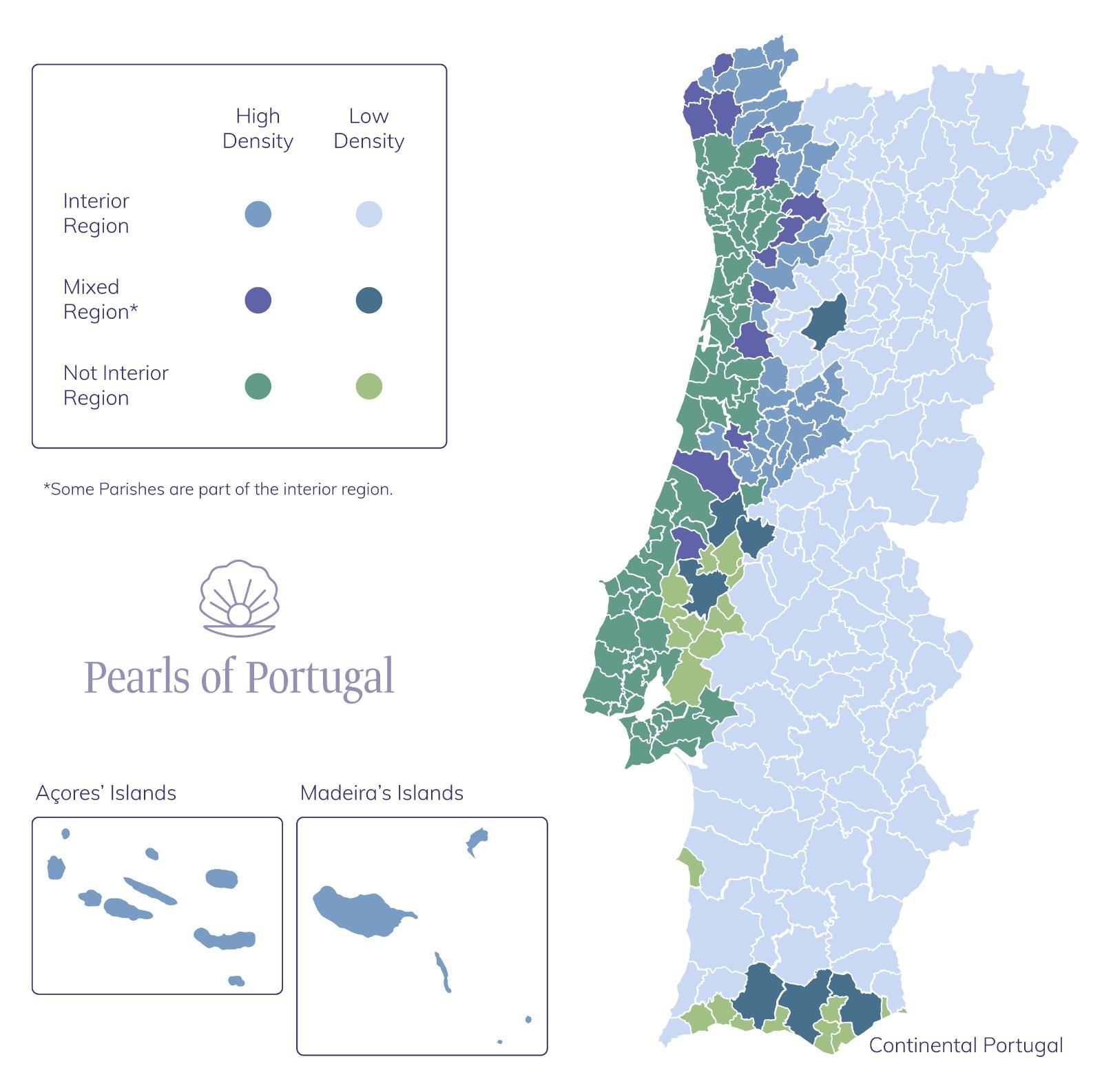 Interior regions golden visa Portugal