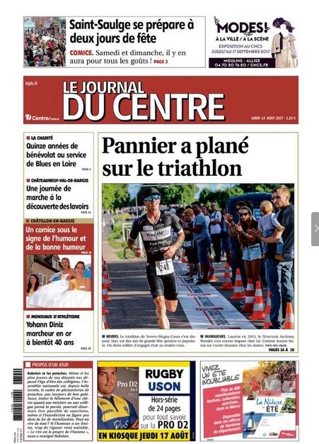 Le journal du Centre, le 14 août 2017