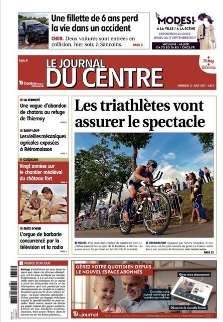 Le journal du Centre, le 13 août 2017