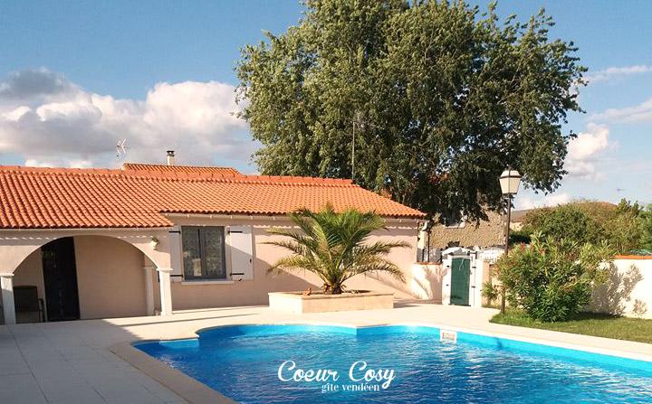 Gîte avec piscine à VIX en Vendée (85) 4 à 6 personnes - Coeur cosy vous accueille pour vos vacances et weekends !